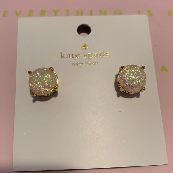 Kate spade opal glitter stud earrings